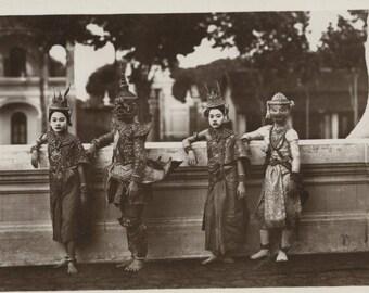 Antique Postcard - Cambodia ...  Royal Dancers
