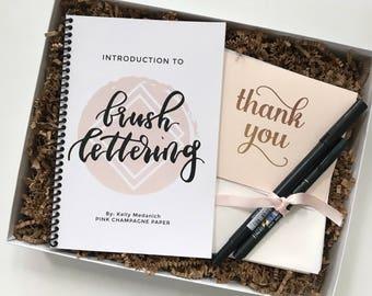 Brush Lettering Kit for Beginners | DIY Brush Lettering | Gift Wrapped
