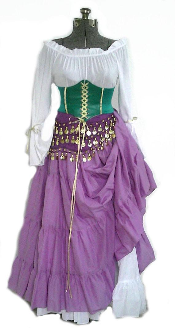 sc 1 st  Etsy & Esmeralda Hunchback of Notre Dame Costume Gypsy Cosplay