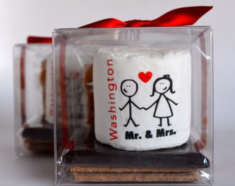 Wedding Out of Town Guest Box Idea Welcome Box Wedding Welcome Bag Out of Town Guest Bag Smore Favors Edible Gifts