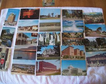 Lot of 22 Vintage Travel Postcards Post Card Souvenir USED US Stamped Postage Postmarked 1950 1960 Ephemera Scrapbook