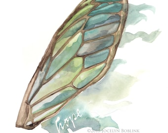 Hope's Wing, 8x10 in print giclee of watercolor painting