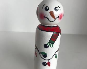 Snowman Peg Doll