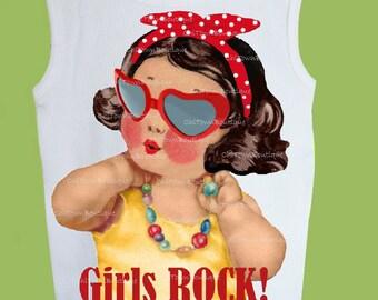 Girls Rock T Shirt, Baby Girls' t shirt Original ,Infant one piece, Toddler Girls' t shirts, printed t shirt, baby girls' tee,baby gift