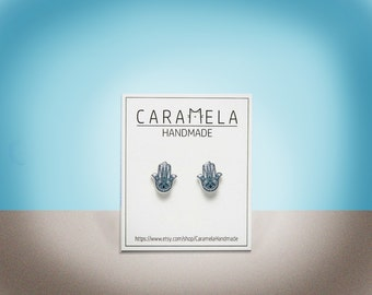 Hamsa Earrings Hamsa hand Stud Earrings Hamsa jewelry Gift for her