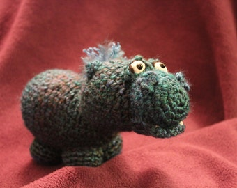 Amigurumi Crochet Pattern - Helga the Hippo
