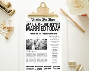Customized Wedding Newspaper