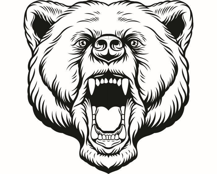 grizzly bear 11 head face animal growling mascot svg eps rh etsy com