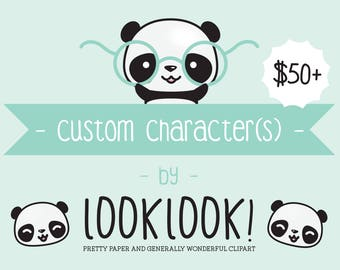 Custom Clipart Design - Custom Clipart Character Illustration - Commercial Use Clipart - Personalised Clipart