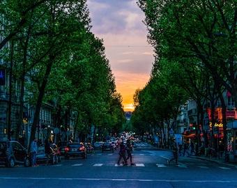Paris Night Photography - Paris Photography - Wall Art Print - Paris Decor - Architecture - Fine Art Photography  - Paris at Dusk - 0091