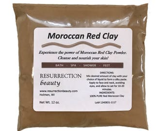 Red Moroccan Clay, 12 oz. Package By RESURRECTIONbeauty