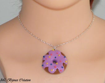 Polymer clay Donut necklace