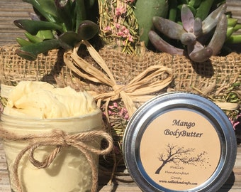 Natural Body Butter 4oz ~ Organic Lotion ~ Shea Butter ~ Moisturizer ~ Sensitive Skin Care ~ Hand Cream ~ Small Gifts ~ Gifts for Her