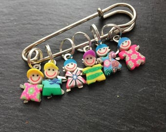 Girls Boys Crotchet Knit Stitch Markers