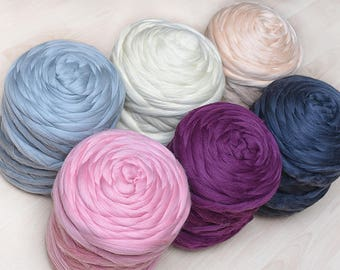 10lbs 4.7kg Merino Wool 21 Micron Giant Bulky Yarn In Colors To Choose Nuno Needle Felting 100% Natural Eco-Friendly Roving Spinning Fiber