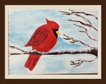 Acrylic Cardinal painting