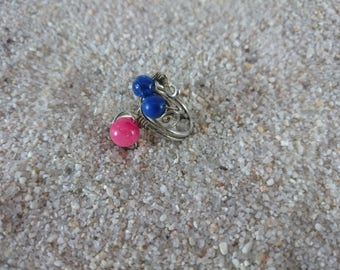 Handmade Copper Wire Ring, Copper Ring, Wire Ring, Ring, Lapis Ring