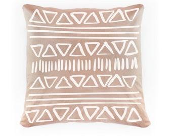 Geo Rose Linen Pillowcase