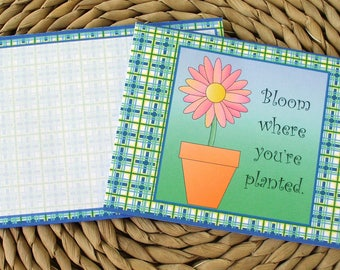 Bloom Where Planted Blank Notecards Set of 12 With Matching Envelopes
