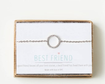 Eternity Bracelet Best Friend Bracelet Friendship Bracelets Silver Charm Bracelet Gift For Her Birthday Gift for Her Graduation B162-S-13