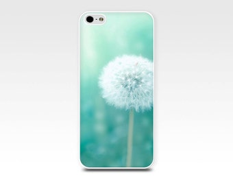 dandelion iphone case 5s iphone 6 case floral iphone case 4s photography iphone case 5 floral iphone case mint pastel green iphone 5s case