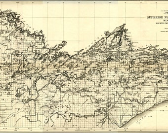 Superior National Forest - Boundary Waters Historical Map 1920