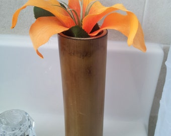 Fire Cured Bamboo Vase