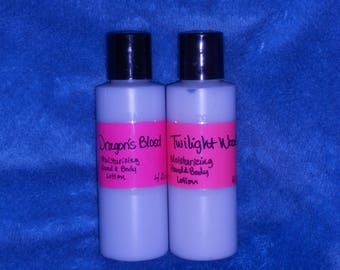 Set of 2 *Moisturizing Hand & Body Lotion with Sunflower Oil and Allantoin  4 fl. ounce each -him/her  (8 fl. oz. total)