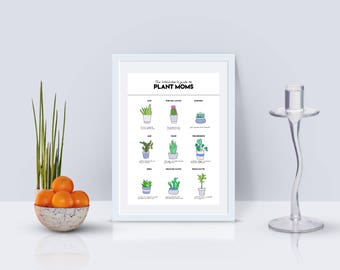 The Hitchhiker's Guide to Plant Moms Print