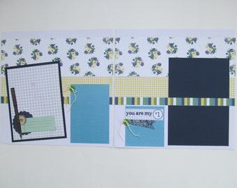 You Are #1 Premade or  DIY Kit, 12x12 Scrapbook Layout, Scrapbook Page Kit
