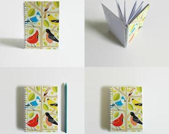 Birds Notebook A6 Spiral Bound
