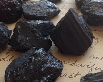 Raw Black Tourmaline Stones - Raw Black Tourmaline - Protection Stone  - Raw Stones - Healing Crystals and Stones