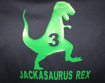 Personalized Toddler Dinosaur T-shirt T-Rex