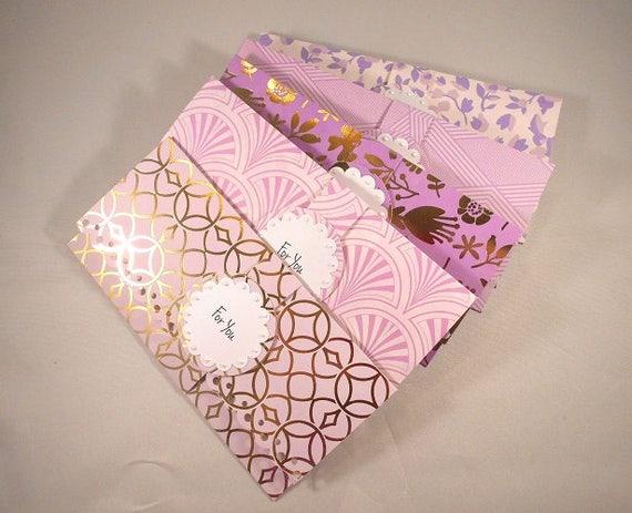 Very 5 Cash Envelopes Personalized / Money Holder / Sweet Sixteen Card  UZ94