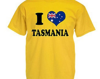 I love heart tasmania australia children's kids t shirt