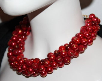 Red Pearl Jewelry, Red Pearl Necklace, Pearl Jewelry Red, Pearl Necklace Red, Pearl Jewelry, Pearl Necklace, Red Jewelry, Red Necklace, Red