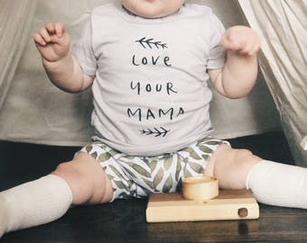 Love Your Mama Dyed Onesie or Tee