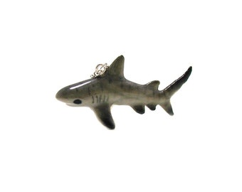 Tiger Shark Necklace, Charm Necklace, Charm Jewelry, Tiger Shark Charm, Shark Jewelry, Marine Life Necklace, Oceanographer Necklace