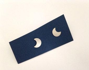 Sterling Moon Earrings