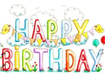 Printable card  Birthday Card PDF Downloadable card Printable Birthday Card Print your own card