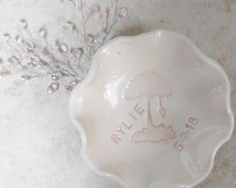 Personalized Trinket Dish Candle Dish Small Bowl