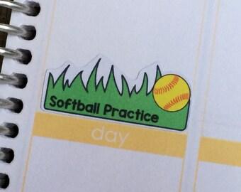 Softball Practice/Game stickers for Erin Condren, Plum Paper, Inkwell