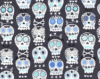 Bonehead in Charcoal - Michael Miller cotton quilt fabric - fat quarter