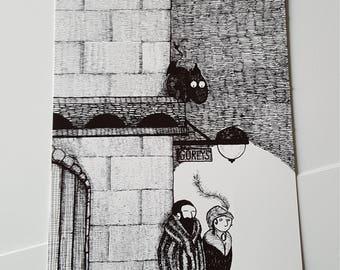 Jersey Devil at Gorey's  print