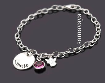 Children's jewellery Edwards 924 silver children bracelet with engraved name jewelry