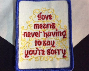 Patch - Love Means...never Say Sorry