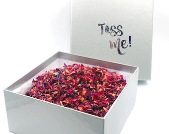 Confetti Box-petals botanicals-wedding confetti biodegradable-wedding confetti bags-personalised confetti-Australia-biodegradable confetti