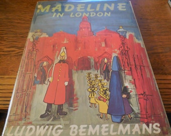 EXRARE 1962 Madeline in London Second Printing Hard Cover Dust Jacket Fine Clean Ludwig Bemelmans