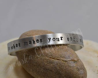 Do What Makes Your Soul Shine Pewter Bracelet