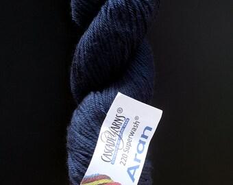 DESTASH cascade 220 superwash aran dark blue navy